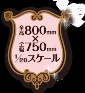 全高800mm×全幅750mm 1/20スケール
