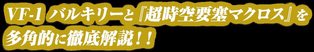 VF-1 バルキリーと『超時空要塞マクロス』を多角的に徹底解説!!