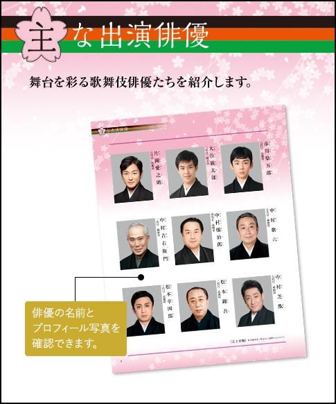 主な出演俳優 舞台を彩る歌舞伎俳優たちを紹介します。